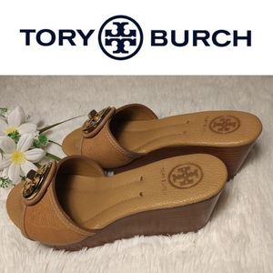 """3"""" Leather Wedge Slides by Tory Burch"""